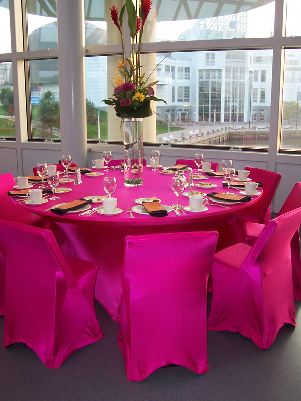 bright neon spandex chair covers