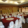 white satin wedding chair covers